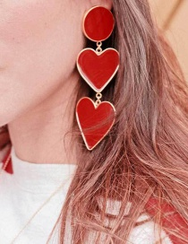 Fashion Red Oil Love Earrings Earrings