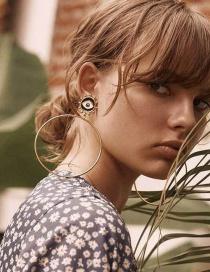 Fashion Gold Love Earrings