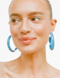 Fashion Blue Acrylic Earrings