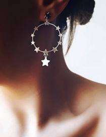 Fashion Gold Pentagram Earrings