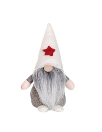 Fashion White Hat Style Standing Long Beard Without Face Doll Santa Claus Doll Without Face Doll