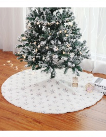 Fashion 122cm Seven Color Sequins Embroidered Tree Skirt Plush Sequins Embroidered Christmas Tree Skirt