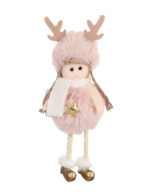Fashion Powder Plush Five-star Angel Pendant Plush Angel Doll Doll Christmas Tree Pendant