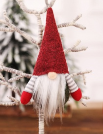 Fashion H Red Paragraph No Face Doll With Hand Pendant Faceless Doll Doll Christmas Tree Pendant