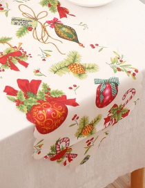 Fashion D Color Polyester Printed Christmas Table Flag