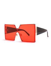 Fashion Red Square Siamese Sunglasses