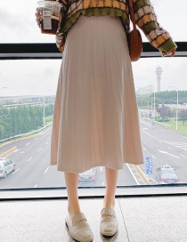 Fashion Beige Knit Twist Skirt