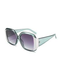 Fashion Gray Frame Double Gray Stitching Square Sunglasses