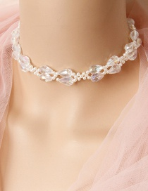 Fashion White Beaded Double-layer Necklace