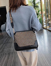 Fashion Black Contrast Crossbody Shoulder Bag