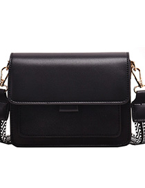 Fashion Black Broadband Contrast Single Crossbody Bag
