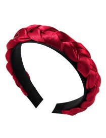 Fashion Red Satin Twist Braid Headband