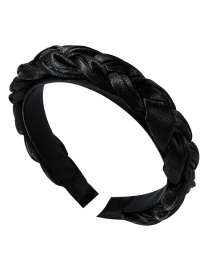 Fashion Black Satin Twist Braid Headband