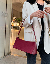 Red Wine Hand Shoulder Bag