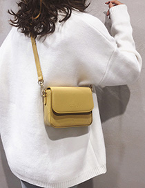 Yellow Shoulder Messenger Bag