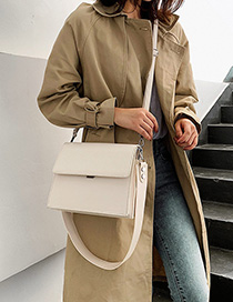 White Broadband Messenger Shoulder Bag