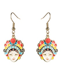 Fashion Colorful White Facebook Drop Earrings