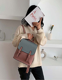 Blue Pink Contrast Shoulder Bag