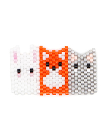 Fashion White Orange Ash Puppy Kitten Rice Beads Knitting Accessories