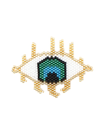 Fashion Gold Eye Bead Woven Accessories