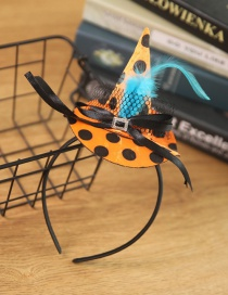 Fashion Blue Feather Head Buckle Halloween Witch Hat