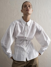 Fashion White Straight Shirt