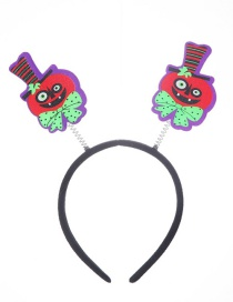 Fashion Pumpkin Head Buckle Halloween Headband