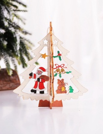 Fashion Three-dimensional Tree Old Pendant Wooden Hollow Christmas Pendant