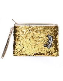 Fashion Yellow Mermaid Sequin Bag
