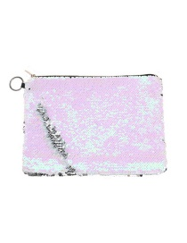 Fashion Pink Two-color Flip Sequin Pencil Case