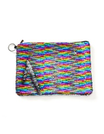 Fashion Multicolored Two-color Flip Sequin Pencil Case