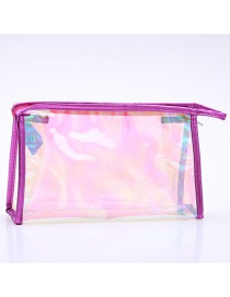 Fashion Rose Red Laser Pvc Transparent Clutch