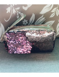 Fashion Powder + Rose Gold Hand Zipper Mermaid Sequin Pencil Case