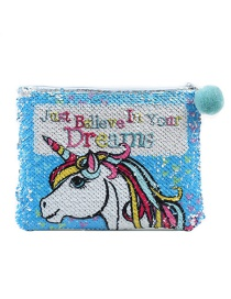 Fashion Unicorn Sequined Unicorn Cartoon Clutch