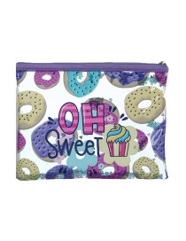 Fashion Donut Cartoon Pvc Glitter Powder Sequin Pencil Case