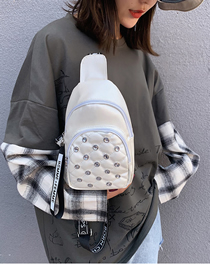 Fashion White Diamond Chest Bag