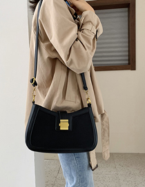 Fashion Black Scrub Hand-locked Shoulder Bag