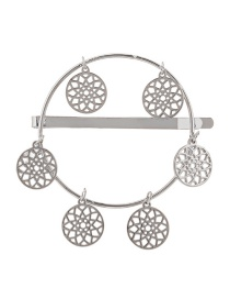 Fashion Silver Geometric Alloy Hollow Dream Catcher Hairpin