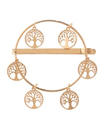 Fashion Gold Alloy Hollowed Out Life Tree Hairpin