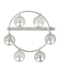 Fashion Silver Alloy Hollowed Out Life Tree Hairpin