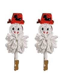 Fashion Color Snowman Rice Earrings
