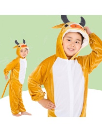 Fashion Yellow Cattle Conjoined Short Section Cartoon Calf Costume