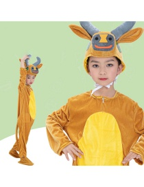Fashion Yellow Cattle Split Long Section Cartoon Ox Costume
