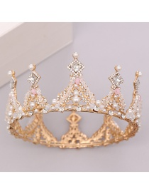 Fashion Gold Full Circle Crystal Crown