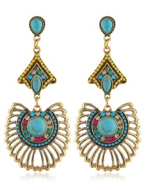 Fashion Color Alloy Hollow Rice Earrings