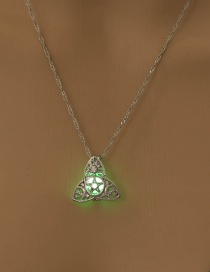 Fashion Yellow Green Gypsophila Night Light Necklace