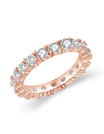 Fashion Rose Gold Diamond Ring