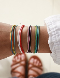 Fashion Color Wire Rope Braided Bracelet Four-piece