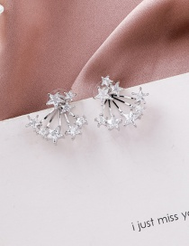 Fashion Silver 925 Silver Needle Size Star Earrings