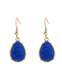 Fashion Sapphire Blue Resin Bright Colored Earrings